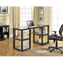 Writing Table Desk Espresso Home Office Dorm Furniture Tv Stand Shelves ... - $165.75
