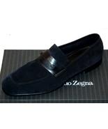 Ermenegildo Zegna L'Asola Navy Suede Extra Flex Loafers   Shoes Sz EU10 ... - $643.49