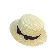 Floppy Foldable Ladies Women Straw Beach Sun Summer Hat Beige Wide Brim Breathab image 6