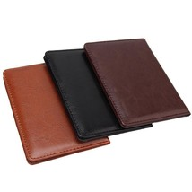 Travel Passport Holder PU Leather Protective Cover ID Card Wallet Access... - $7.85