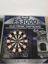 Franklin FS3000 Electronic Dart Board With 6 Soft Tip Darts Easy Mount 9... - $27.67