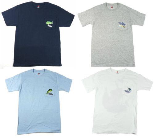 Tackle The Dream Men's Shirt Fishing Pocket Tee Hanes Outdoors Fish T-Shirt NEW