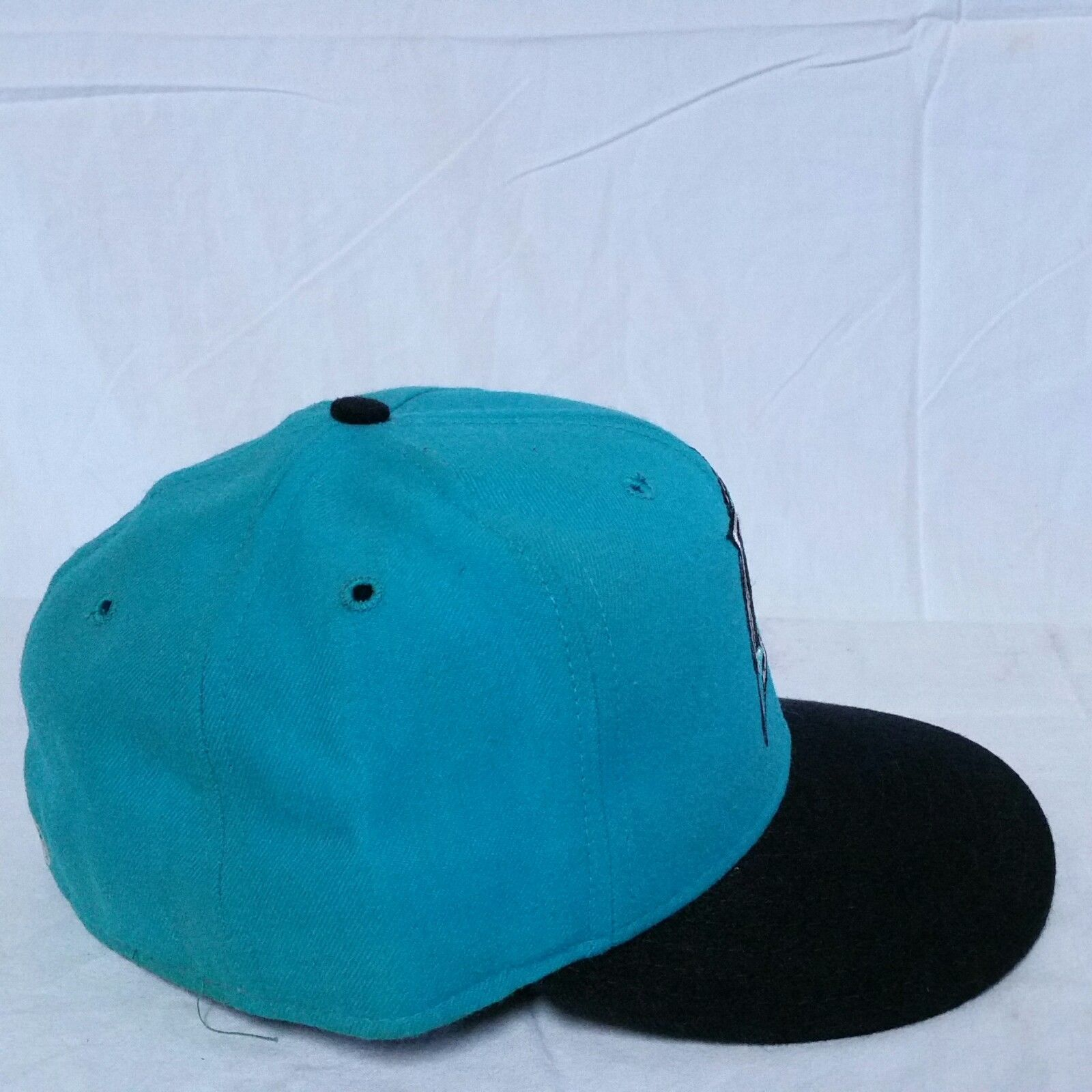 timeless design 58b39 0b9a5 VTG Florida Marlins New Era Fitted Hat 7 1 4 Diamond Collection Pro Model  Cap