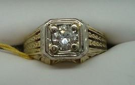 14K Yellow Gold Genuine Natural Diamond Ring .43ct (#730) - $1,026.00