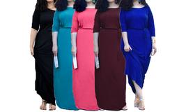 Women's Plus Size Loose fit Long Maxi Dress - $29.99