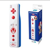 Nintendo Wii Remote Plus Wii U Toad Theme White Blue Red New In Box Sealed - $40.09