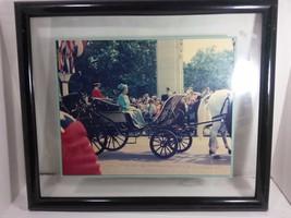 Vintage Original Framed Picture Of Queen Elizabeth II Parading (1960s) - £70.41 GBP