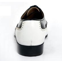 Men Hand Made Anastasio Resurrection Black & White Spectator Leather Shoes image 5