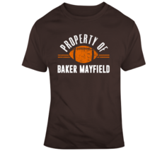 Property Of Baker Mayfield Qb Cleveland Football T Shirt - $19.99