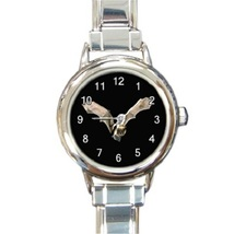 Ladies Round Italian Charm Bracelet Watch Vampire Bat Flying At Night 30319205 - $11.99