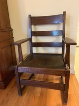 Antique Mission Arts & Crafts L & JG Stickley Oak Ladder back Chair 1912... - $296.97