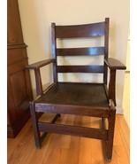 Antique Mission Arts & Crafts L & JG Stickley Oak Ladder back Chair 1912... - $296.97