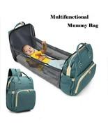 Baby Crib Backpack Large Capacity Folding Bed Sleeping Travel Infant Str... - £63.26 GBP