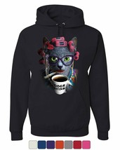 Crazy Old Cat Lady Hoodie Dogs Stink Funny Kitten Cat Lover Pet Sweatshirt - $28.27+