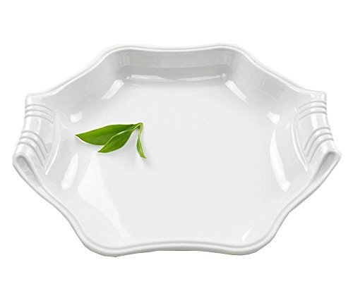 Primary image for Black Temptation Creative Melamine White Bone Plate Steak Fruit Pasta Dish Tray