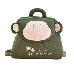 PANDA SUPERSTORE Creative Lovely Cozy Children's Backpack/Plush Backpack(Green M - $28.50
