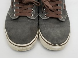 Mens Size 10 Gray Brown Vans Sneakers Shoes Lace Up 721356 image 2