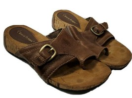 Bare Traps Sandals brown Slip On Women's Size 7M Leather Loopy (dj) - $19.80