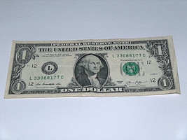 2013 $1 One Dollar Bill US Note Pairs 3 7 8 33088177 Fancy Money Serial # - $12.68