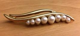 Trifari Vintage Faux Pearl Swag Pin Brooch - $10.99