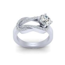 VVS-VS Clarity 0.80ct DEF Moissanite Interlock Design Engagement Ring For Womens - $1,229.99