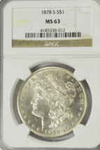 1878 S $1 Morgan Silver One Dollar NGC MS63 San Francisco VAM 5 Triple E... - $95.03