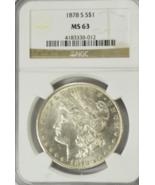 1878 S $1 Morgan Silver One Dollar NGC MS63 San Francisco VAM 5 Triple E... - $95.03