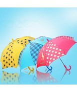 Kids Umbrella Creative Long-handle Waterproof Rain For Children Semi Aut... - $32.21