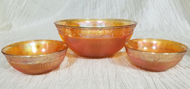 Vintage Imperial Glass Prism and Daisy Fruit Serving Set, 7 pieces (circa 1930s) - $40.50