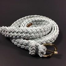 Lauren Ralph Lauren Women's Woven Belt White. MSRP.$38.00.Size XL.NWT. - $35.00