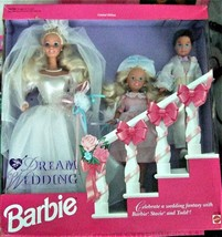 Barbie Doll - Vintage 1993 Dream Wedding Set with Stacie & Todd Limited ... - $68.95