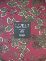 "Ralph Lauren Birchmont Red on Red Tablecloth 70"" round - $45.00"