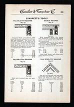 Squares Measure Level Tools Starrett Tools Try  Hardware 1919 Tool Catal... - $14.99