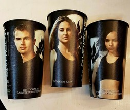Coca Cola Divergent Movie Beverage Cup LOT 2014 Shailene Woodley Zoe Kravitz USA - $24.66