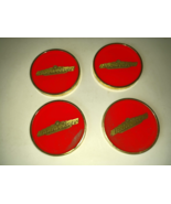 Beer Budweiser Glassy Red & Gold Collectible Vintage Coaster Set in Original Box - $74.99