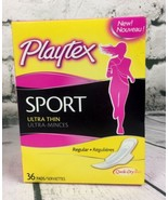 Playtex Sport Ultra Thin Pads with Wings Regular 36 Count Qwik-Dry Absor... - $18.76