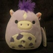 "Squishmallows Meadow HORSE 5"" Kellytoy Purple Pony  - $16.82"