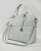 NWT Brahmin Duxbury Satchel/Shoulder Bag in Sea Glass Melbourne Embossed Leather - $229.00