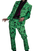 The Riddler Cosplay Fashion Costume Outfit Batman Suit Classic Men's Fan... - $196.34 CAD