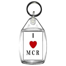 i love m c r (manchester) keyring  handmade in uk from uk made parts keyring, ke