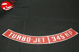 Chevy Turbo Jet 345 Horsepower Air Cleaner Decal - $12.50