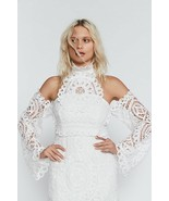 New Free People Olympia Lace Bodycon Dress SMALL Retail $330 WHITE - $97.02