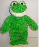 "BUILD A BEAR RETIRED GREEN FRIENDLY FROG 17"" SMILING STUFFED PLUSH DOLL TOY - $11.99"