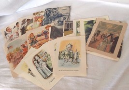 Lot 27 Vintage Book Illustrations Art Illustration 20874 - $16.47