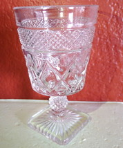 """Imperial Glass Cape Cod Clear Glass Thumbprint Cordial 3 3/4""""   - $11.83"""
