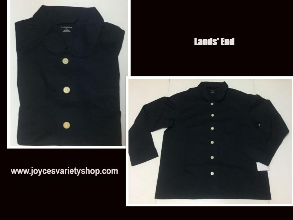 Lands end blue mens shirt web collage