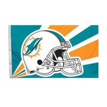 Miami Dolphins Premium Flag 3'x5' NFL Helmet Banner - $28.01