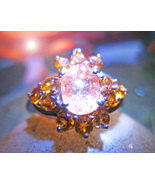 HAUNTED RING KAYSHALYI FAIRY WIZARD SPIRIT MAGICK TOPAZ QUARTZ Cassia4 W... - $67.77