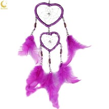 Ochine  Handmade Heart Dream Catcher With Feathers Car Wall Hanging Deco... - $12.39