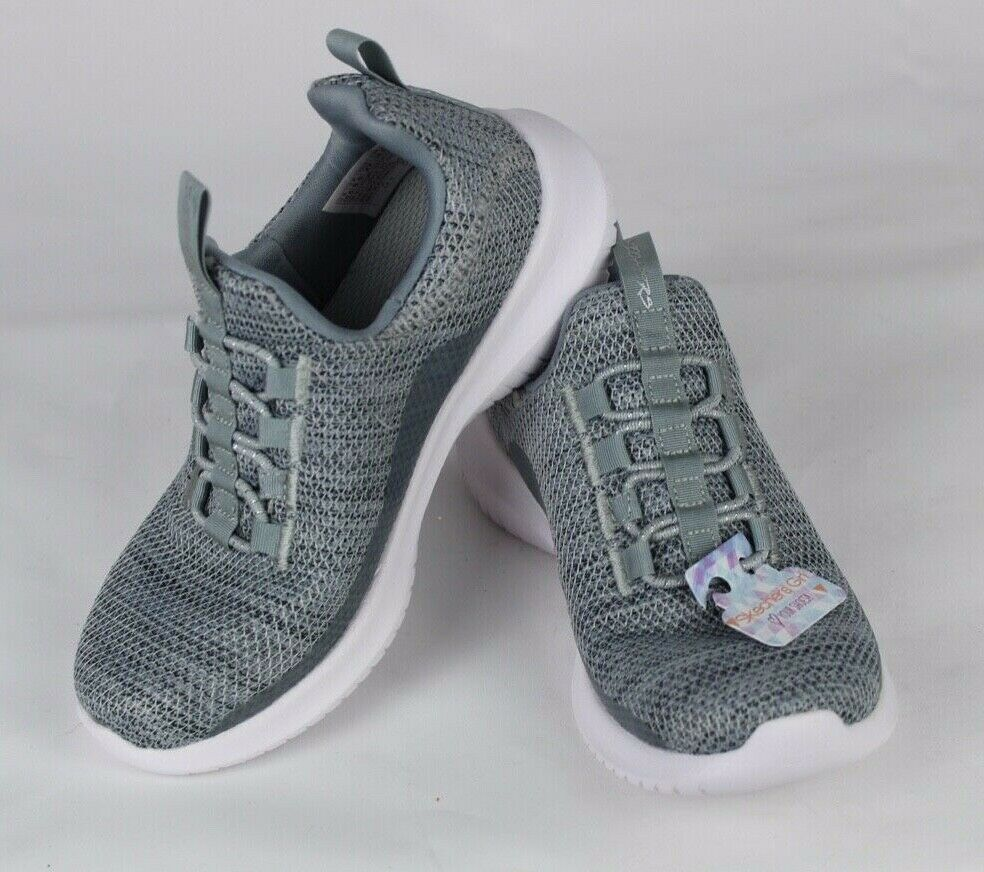 Skechers Jugend Mädchen Schuhe Sneaker Grau ohne Bügel Größe 10.5 image 2